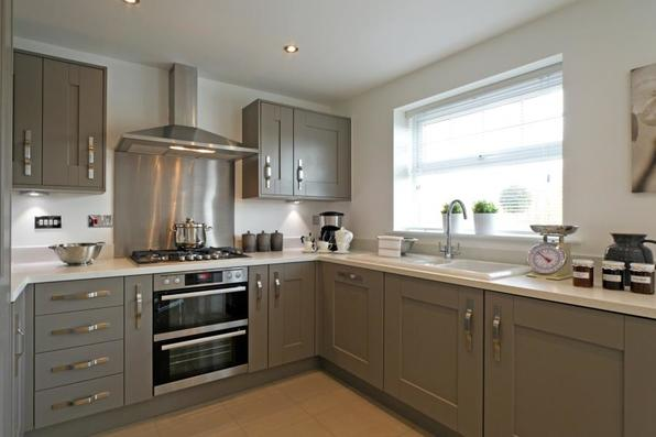Black and grey kitchens taylor wimpey for Black and grey kitchen cabinets