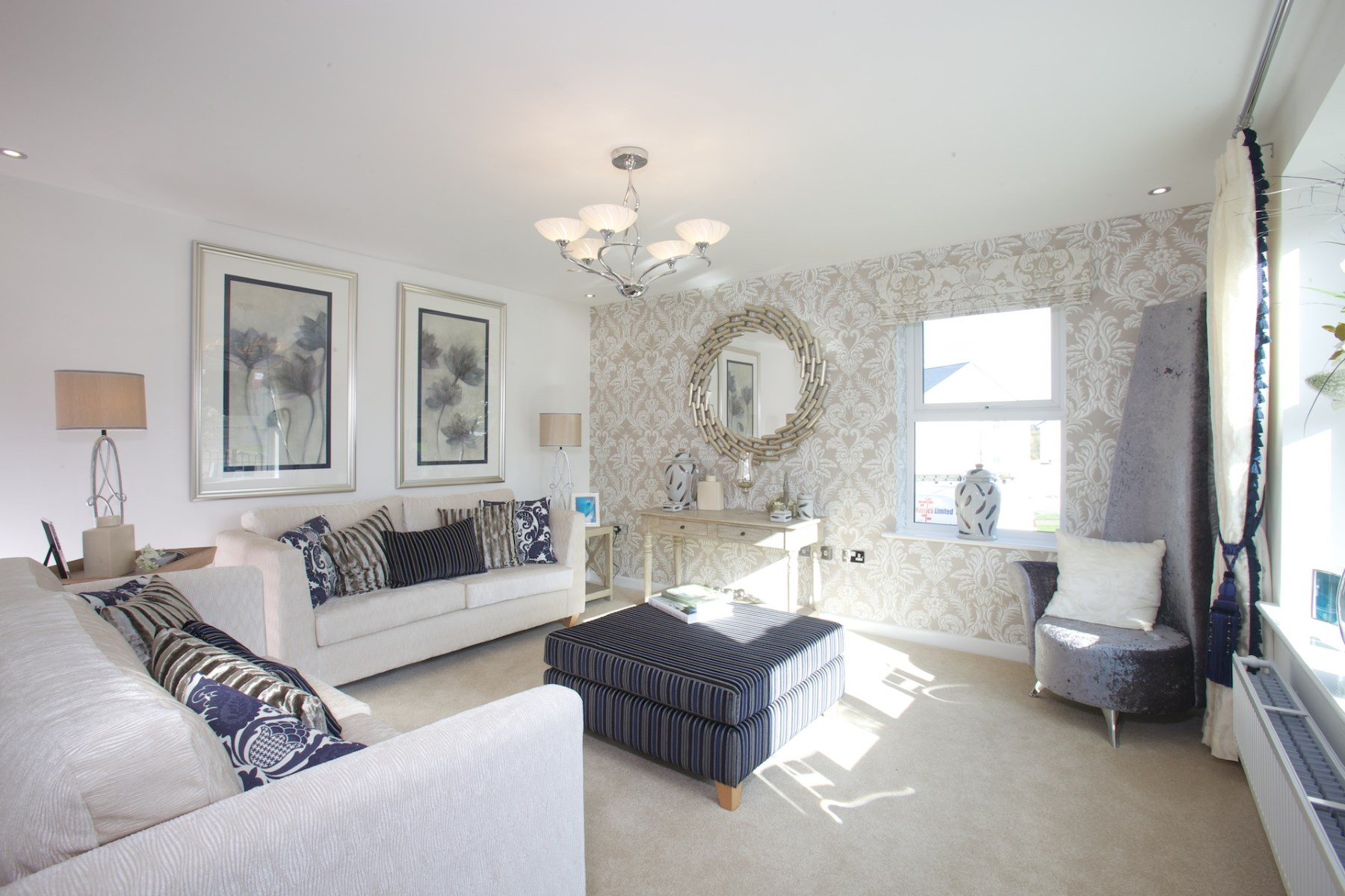 The stanton plot 50 taylor wimpey for Show home living room ideas