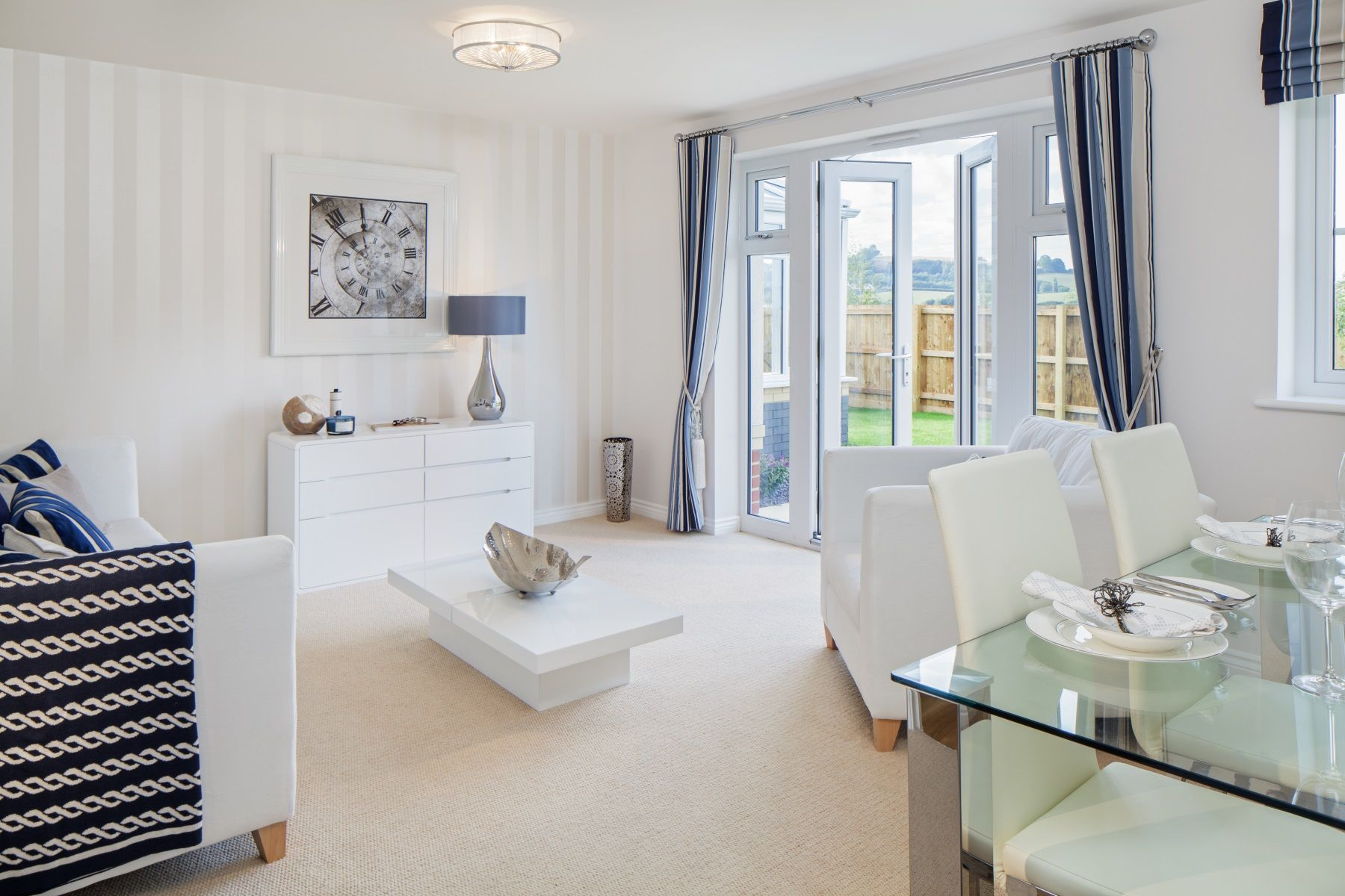Hele Park Flatford Example Living Room Actual Show Home