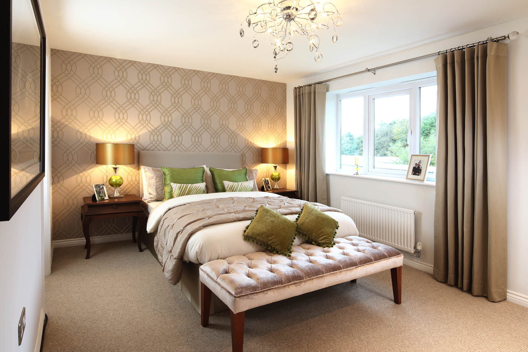 Master bedroom. Stoneley Park   New homes in Coppenhall   Taylor Wimpey
