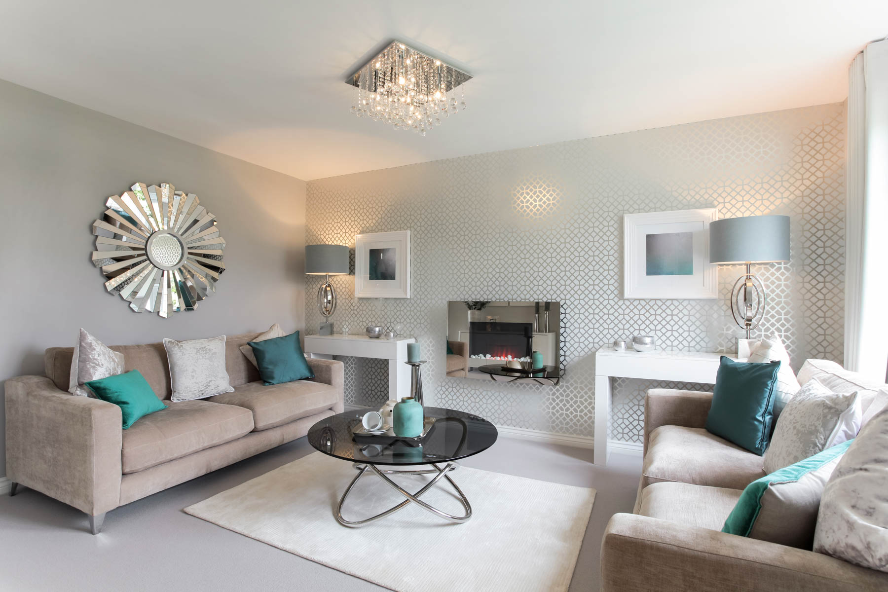 Living Room Shows Property Millfields At Lingfield Point  Taylor Wimpey