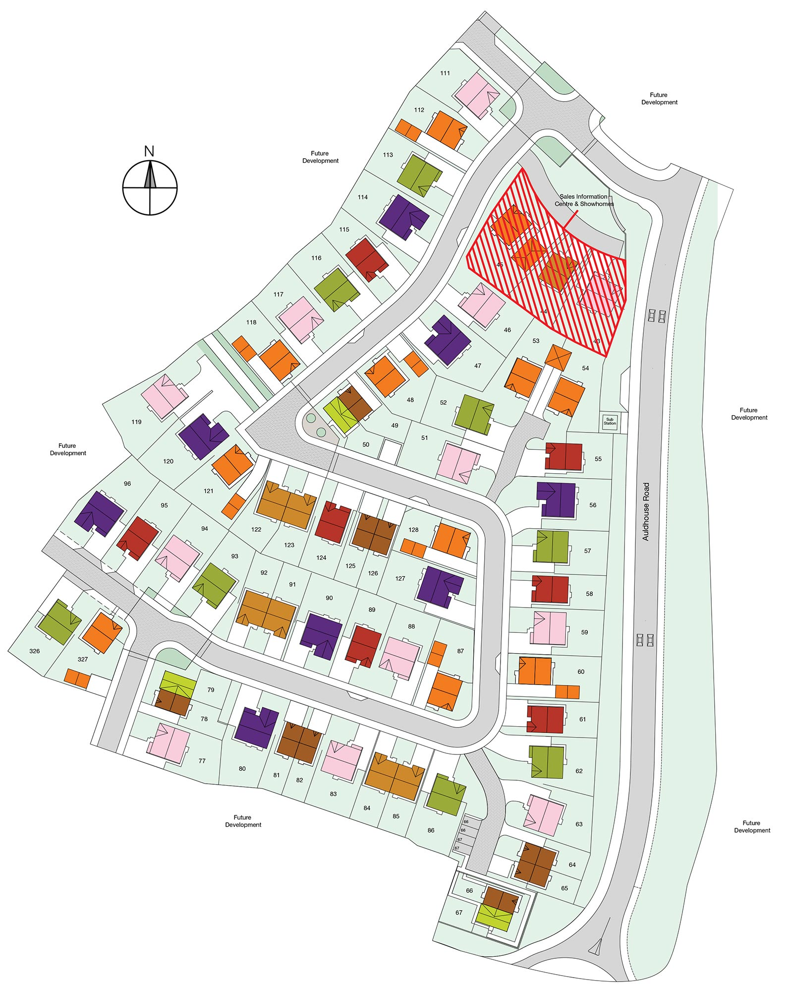 Benthall farm taylor wimpey for Ranch layout