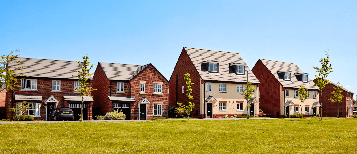 Homes on a Taylor Wimpey development