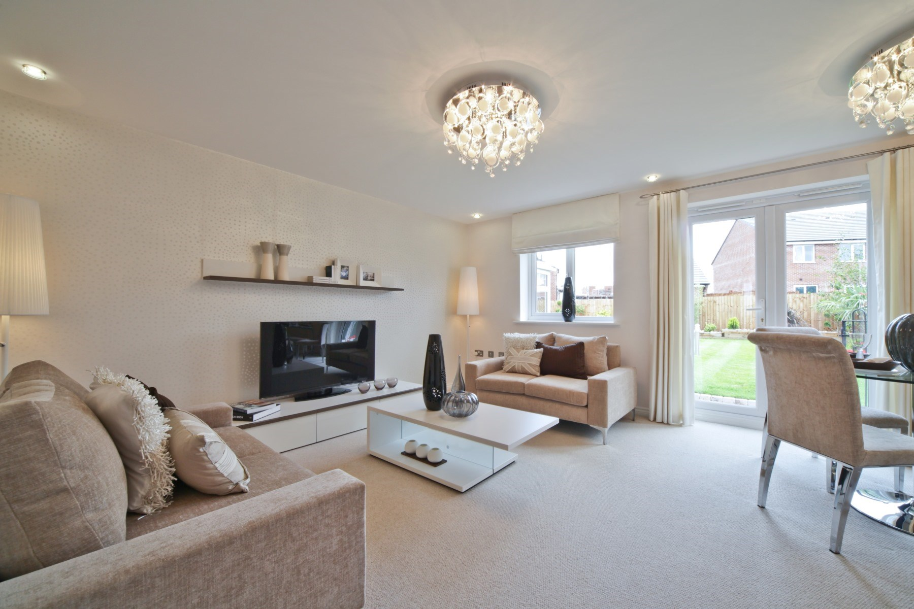The vistas new homes in heywood taylor wimpey for Show home living room ideas