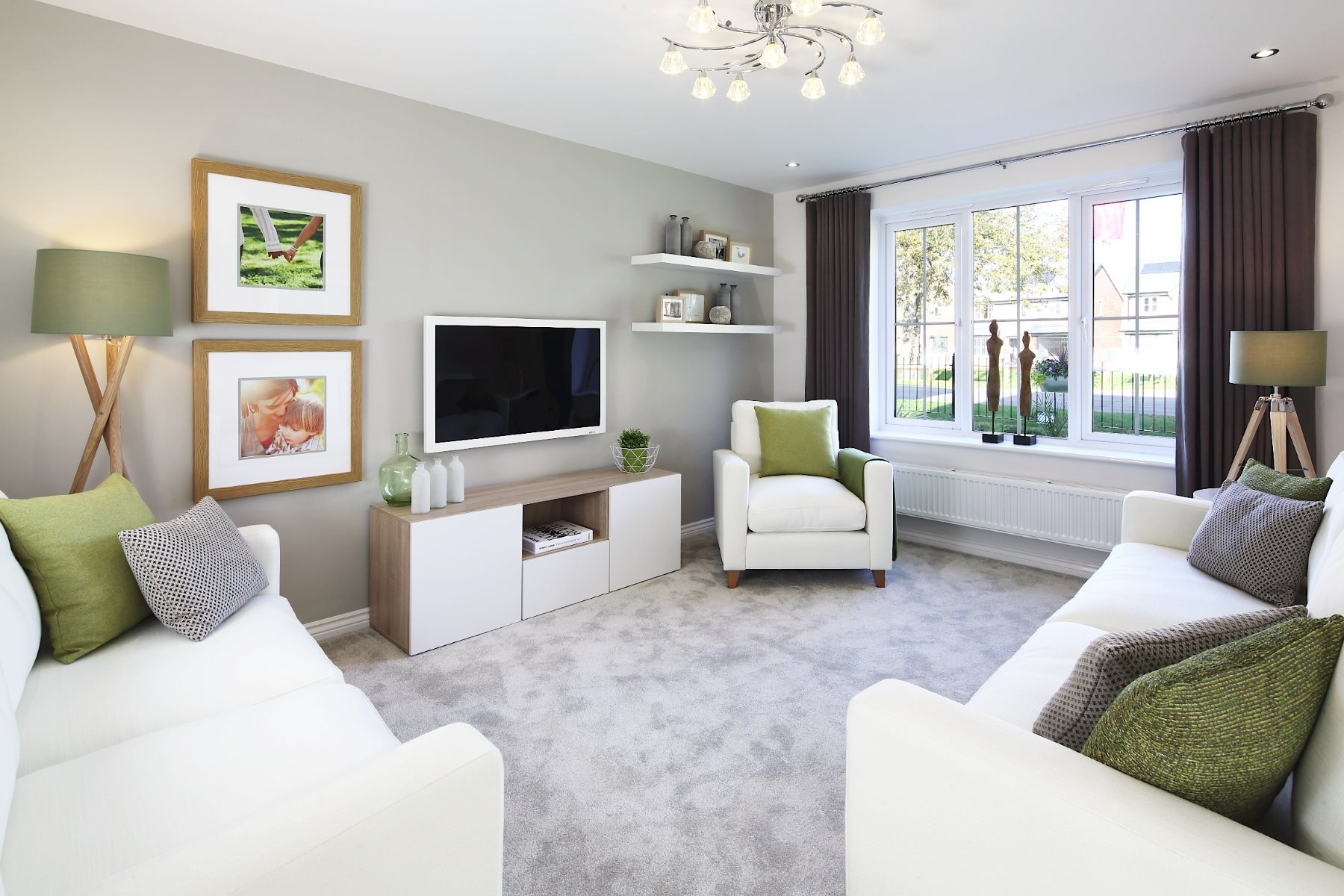 Scholars field taylor wimpey for Show home living room ideas