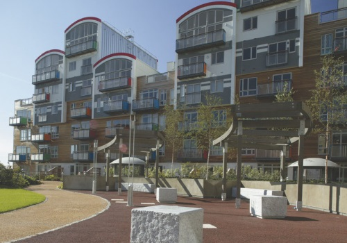 Greenwich Millennium Village courtyard landscaping