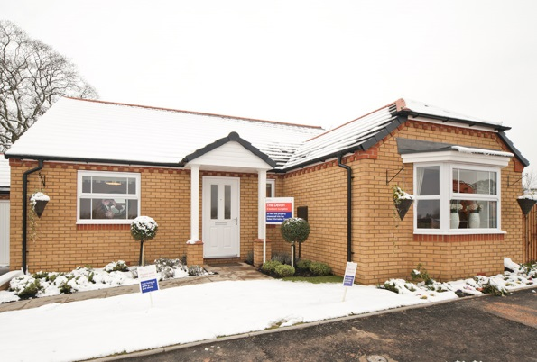 Swallows Heritage showhome in the snow
