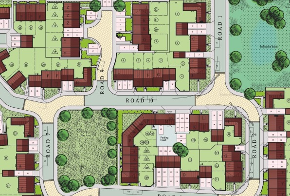 Calverton - part of the planning layout