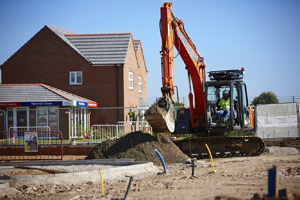 Digger outside showhome