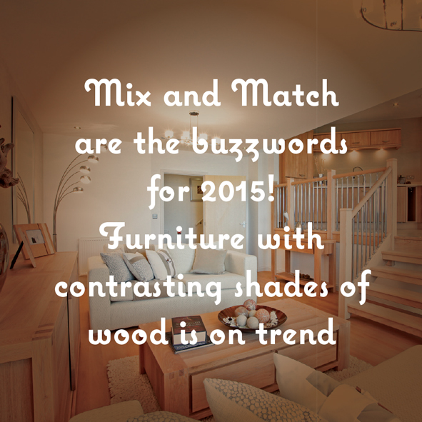 Mix and match are the buzzwords for 2015