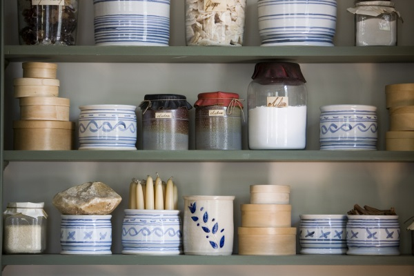 vintage crocks and jars