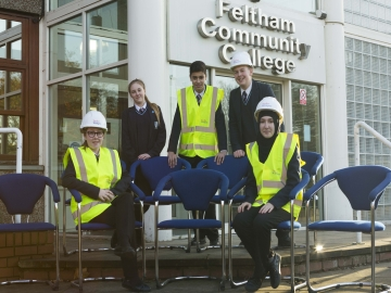 Taylor Wimpey chair donation- Feltham Community College - Image 1