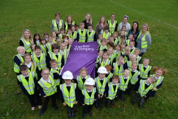 WEB Taylor Wimpey Coaley Primary School High Vis Vest Donation
