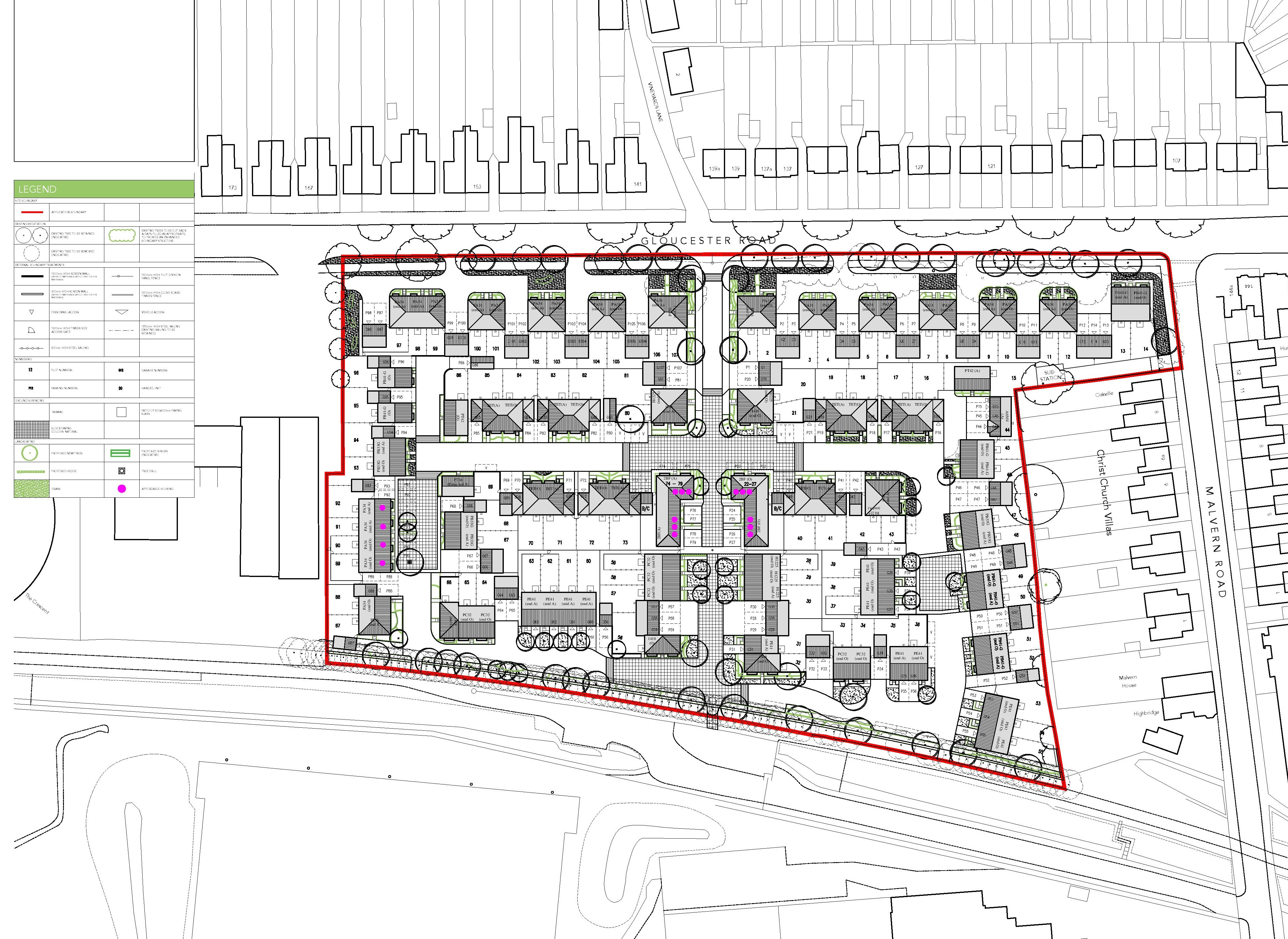 Gloucester Road planning layout