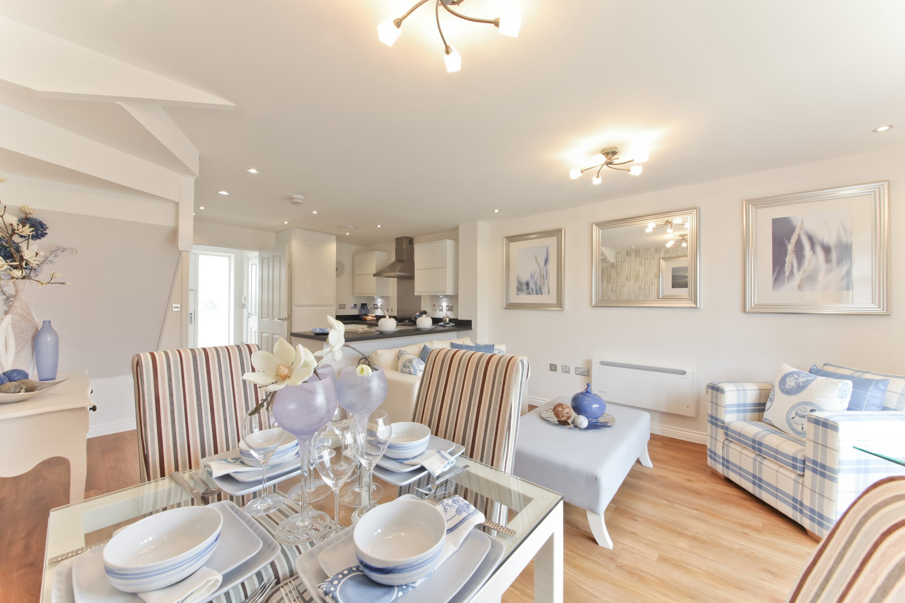 Typical Taylor Wimpey home - Kitchen and living area