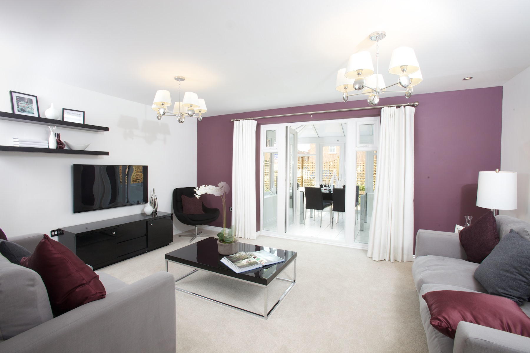 Kings Copse show home - Living room