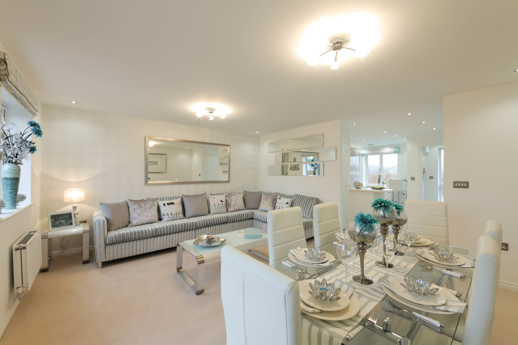 Typical Taylor Wimpey home - Living/dining room
