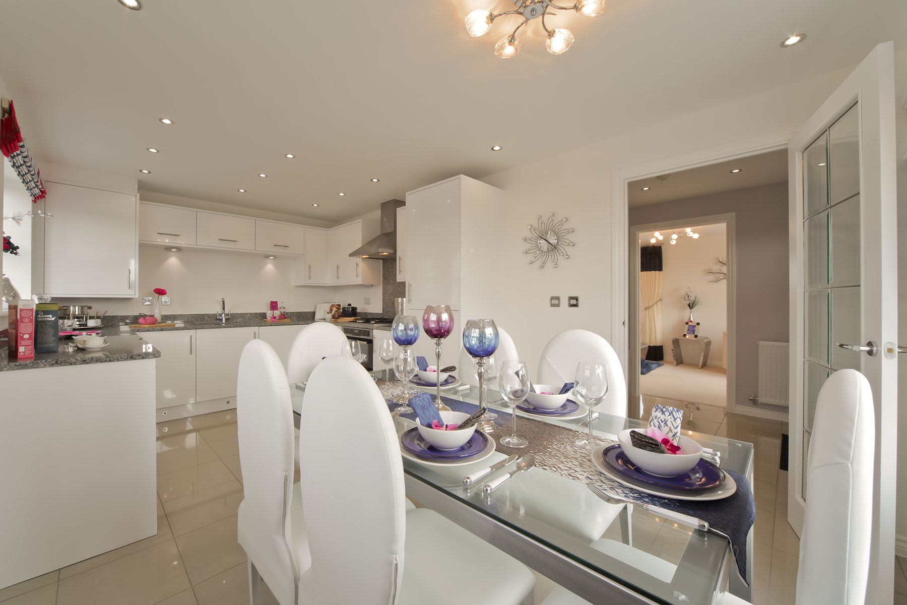 Typical Taylor Wimpey kitchen/dining area