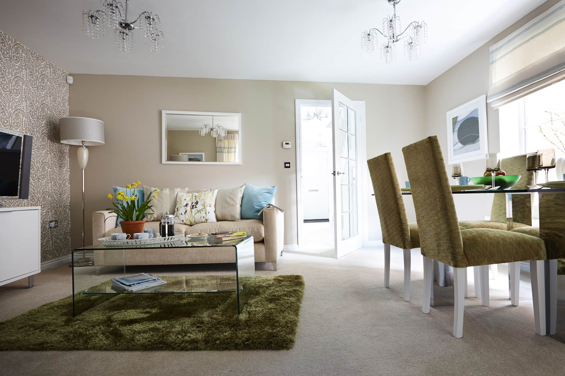 Typical Taylor Wimpey home - Living/dining area