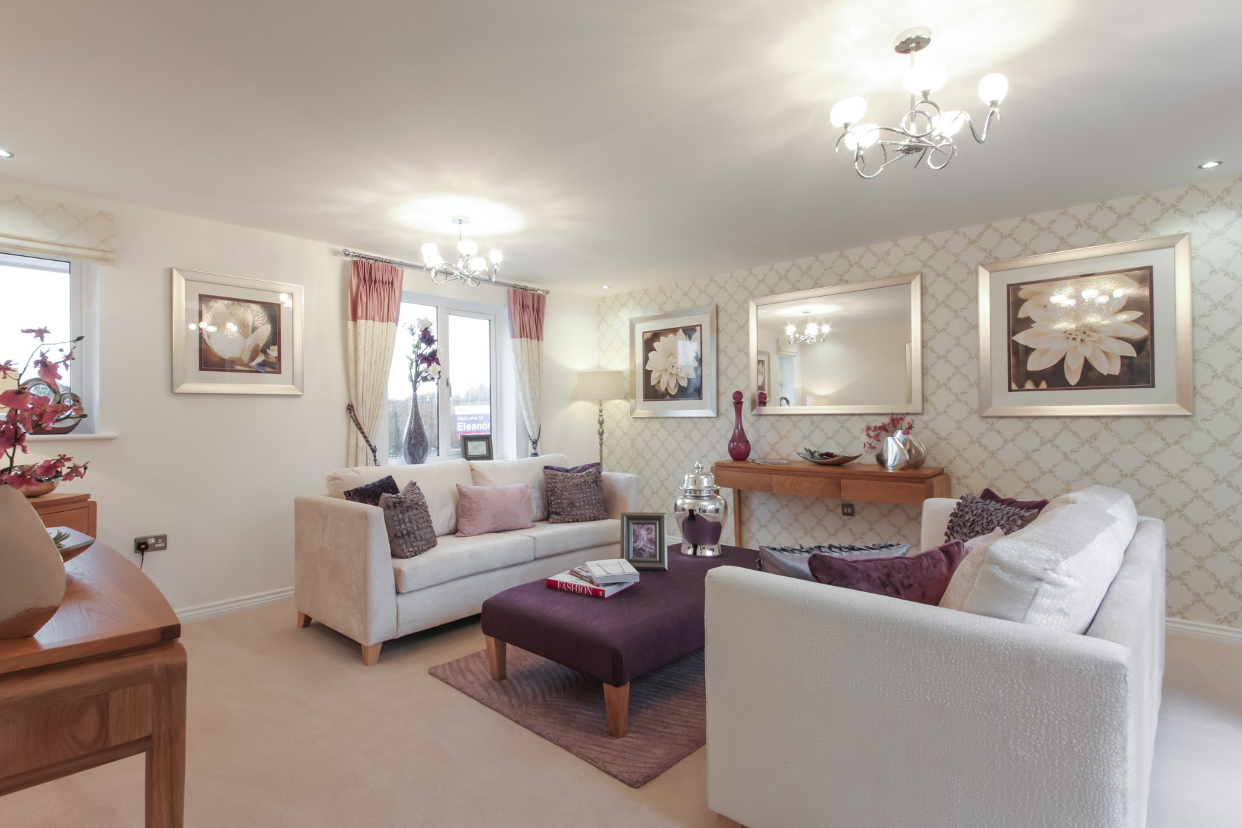 Typical Taylor Wimpey living room