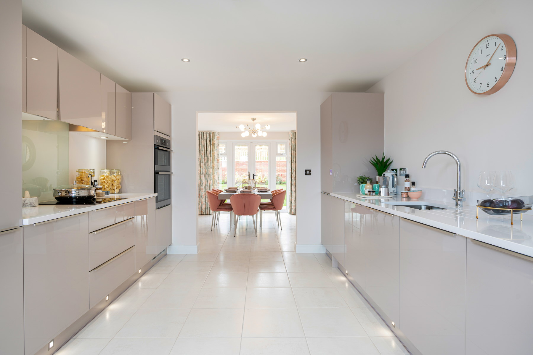 Typical Taylor Wimpey home - Kitchen and dining room