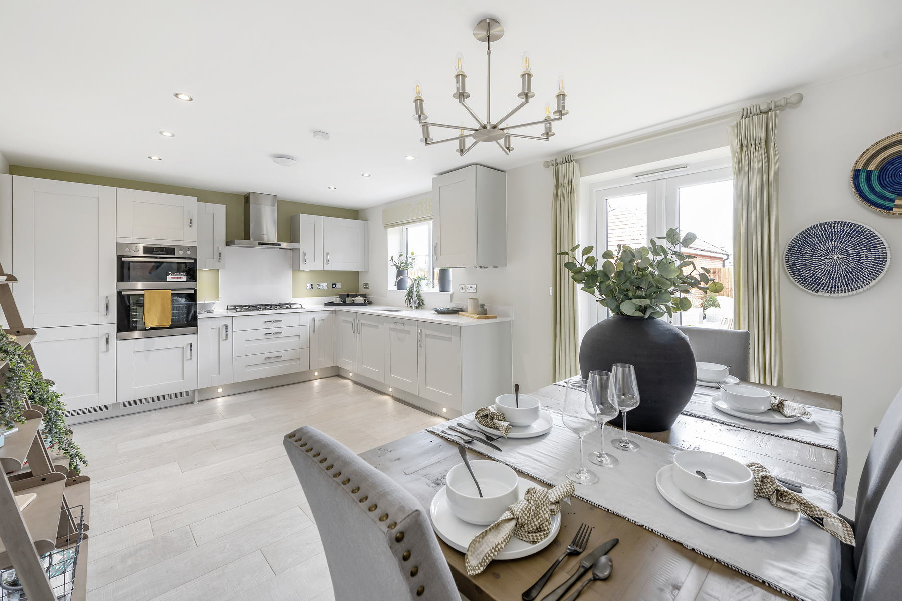 Typical Taylor Wimpey home - kitchen and dining area