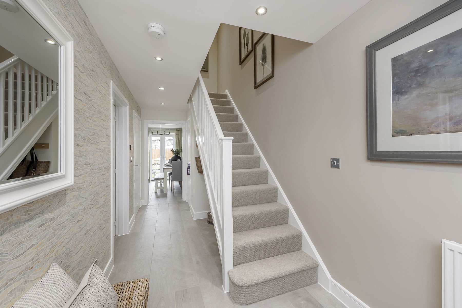 Typical Taylor Wimpey home - hallway (2)