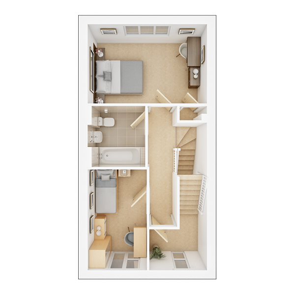 Braxton first floor plan