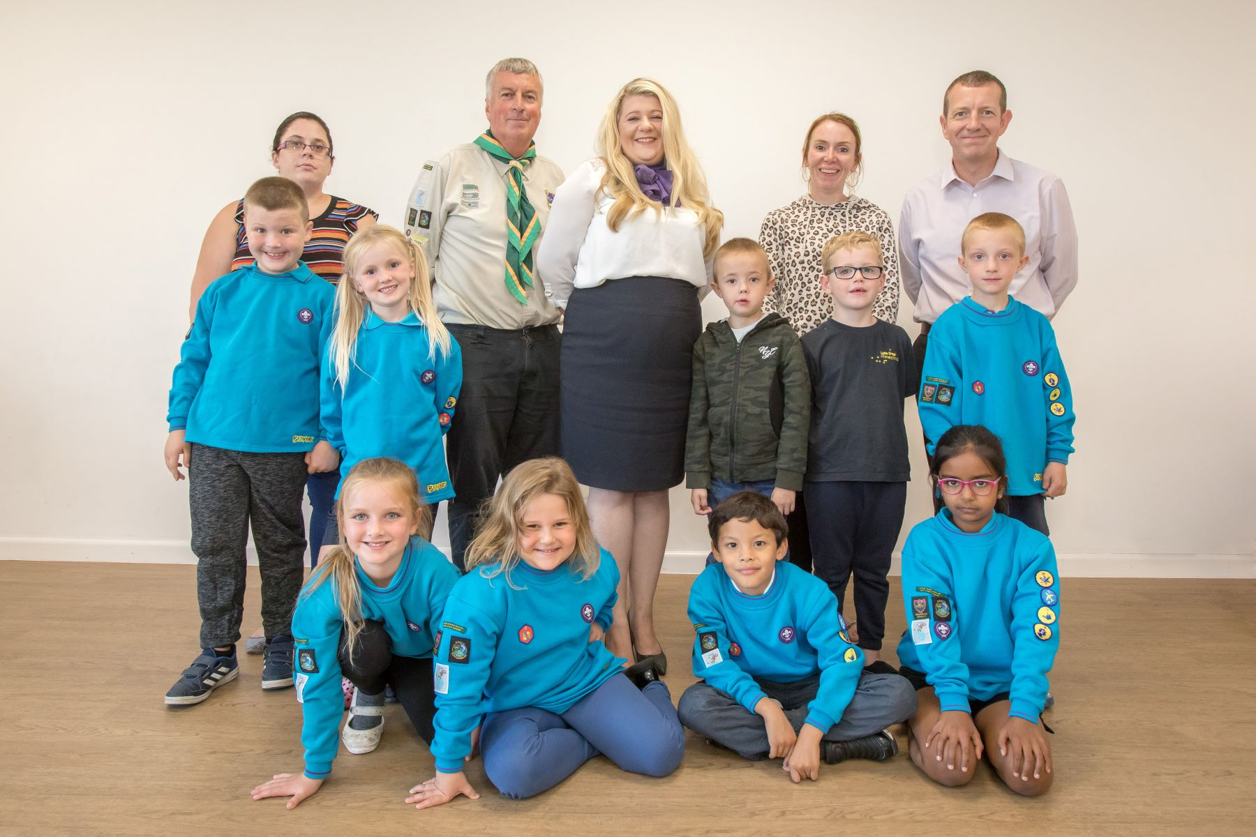 Lyde Green Scout Group has received a cash donation from homebuilder Taylor Wimpey Bristol_