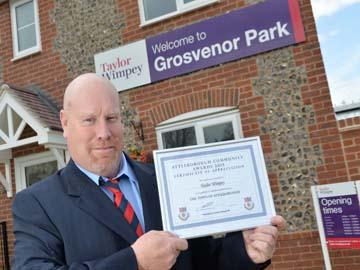 wTWEA - Taylor Wimpey - Grosvenor Park - Attleborough Community Award