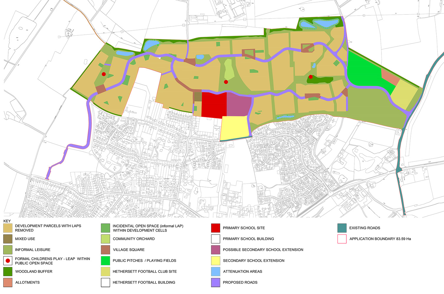 20803 - Hethersett - Land Use Plan - For Website - 21_05_15