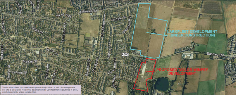 Eastrea road Whittlesey Proposed Development