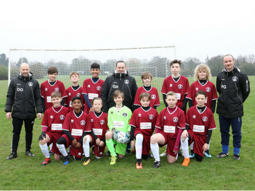NEWS - Chelmsford City Youth FC Blues awarded with a donation from Taylor Wimpey
