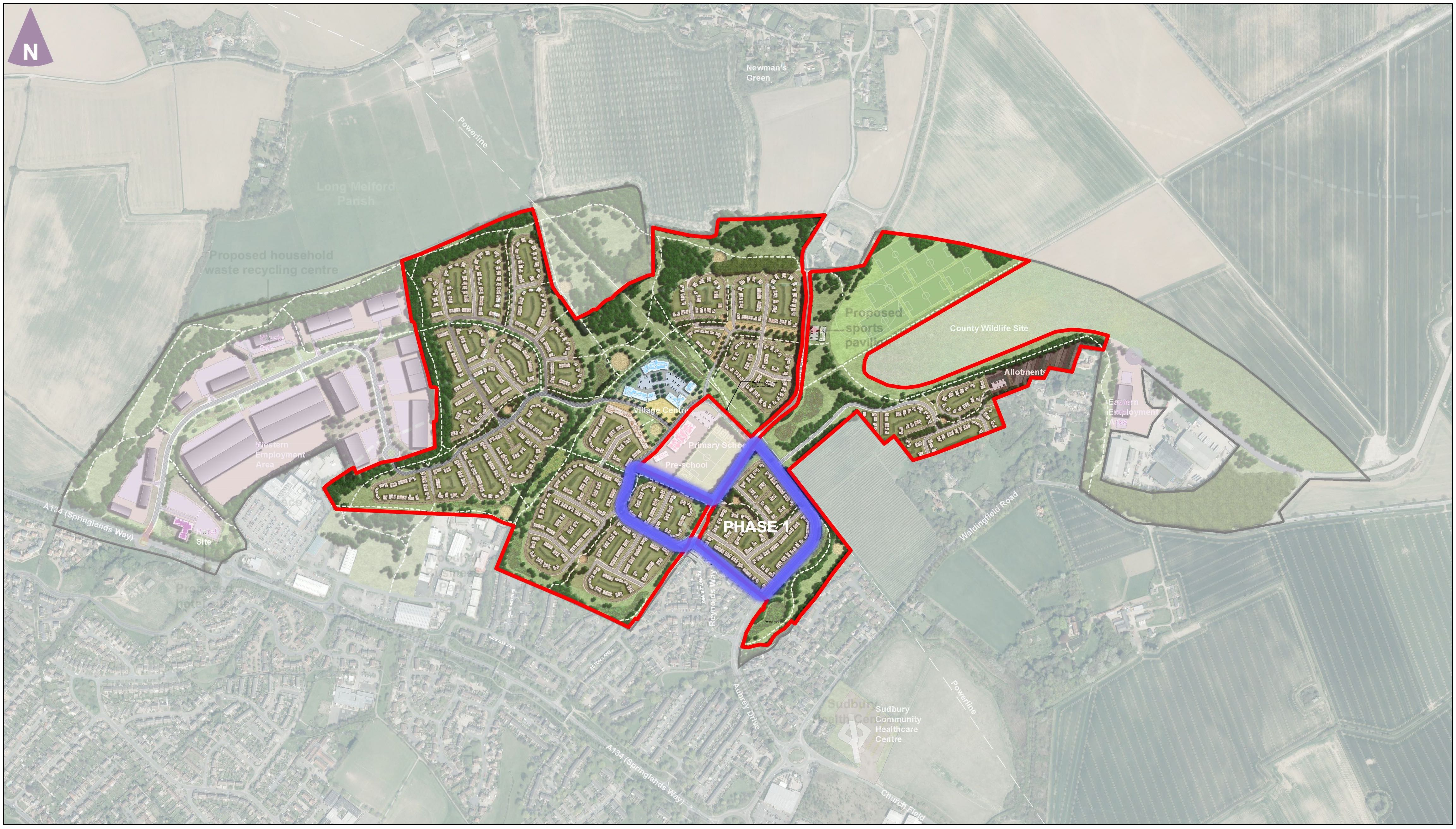 Chilton Woods - TW acquisition boundary phase 1