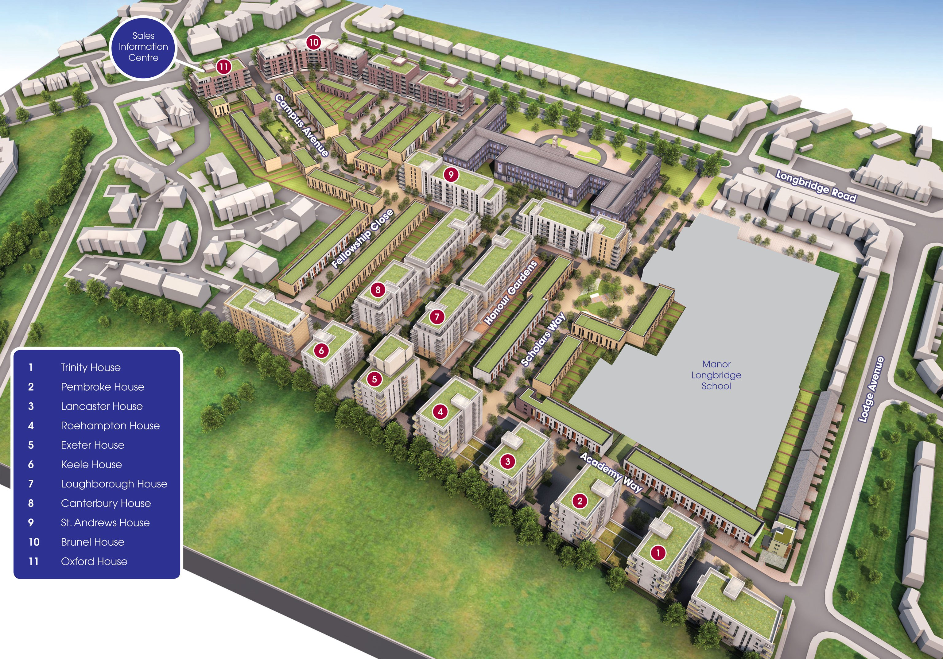 Academy Central site plan