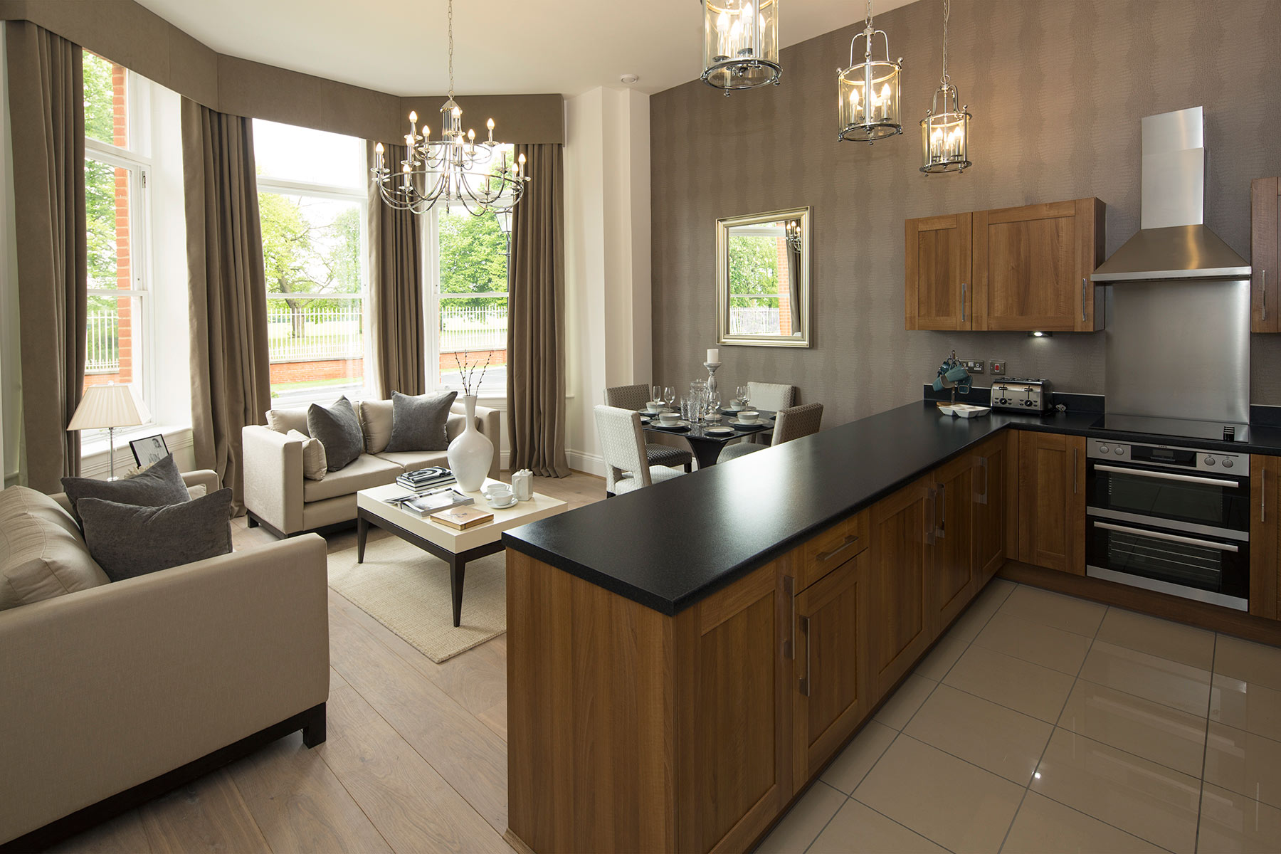 Typical kitchen/living room, Brigadier House Colchester