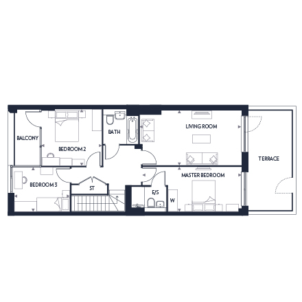 Plot 362 first floor plan, Chobham Manor