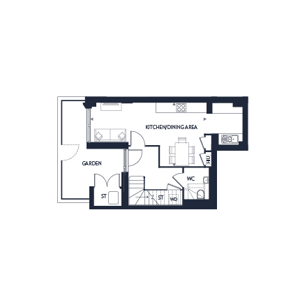 Plot 362 ground floor plan, Chobham Manor