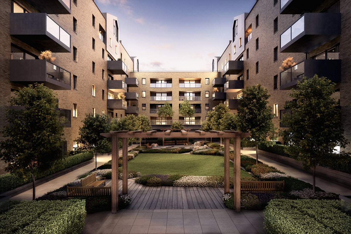 Artist impression of Kane Court - Dusk