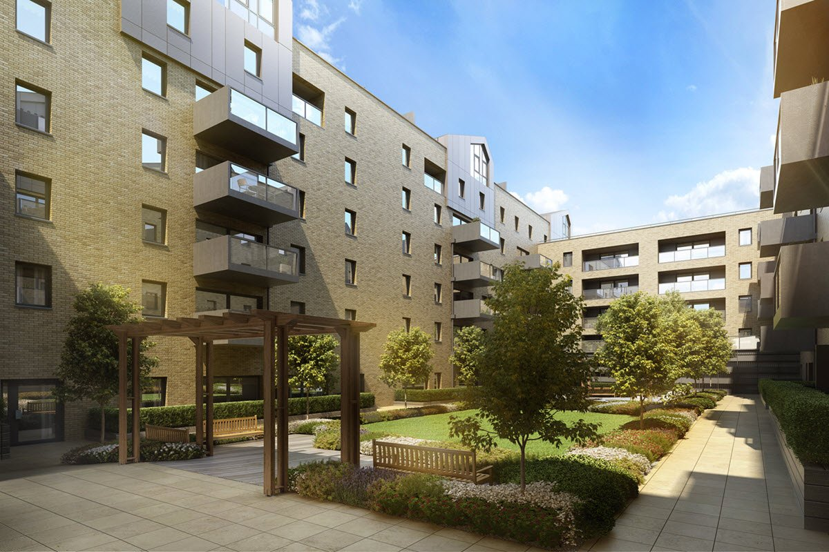 Artist impression of Kane Court New internal courtyard