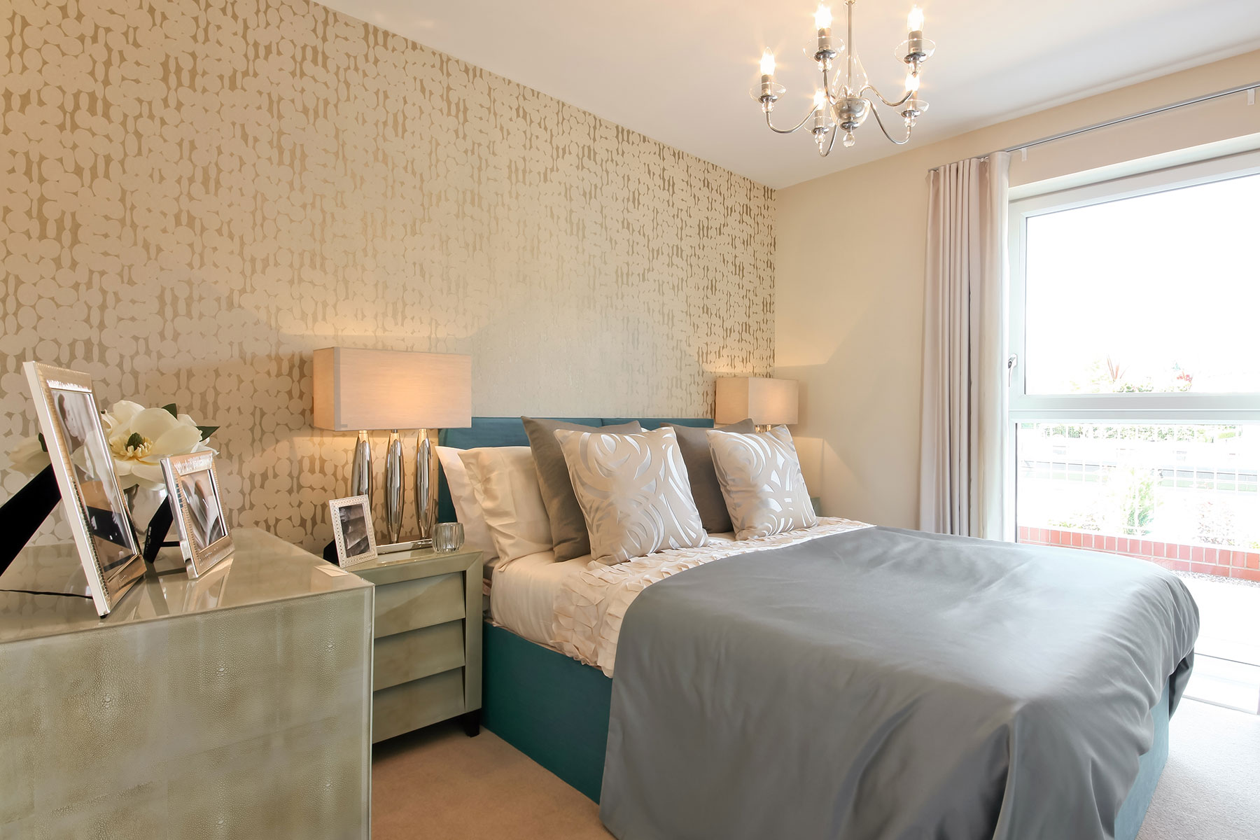 Indigo Wharf show home second bedroom