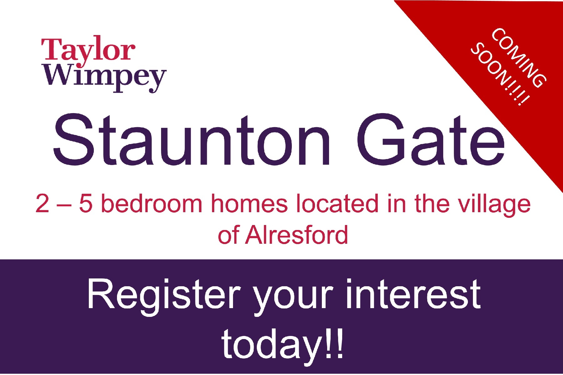 Staunton Gate coming soon flash