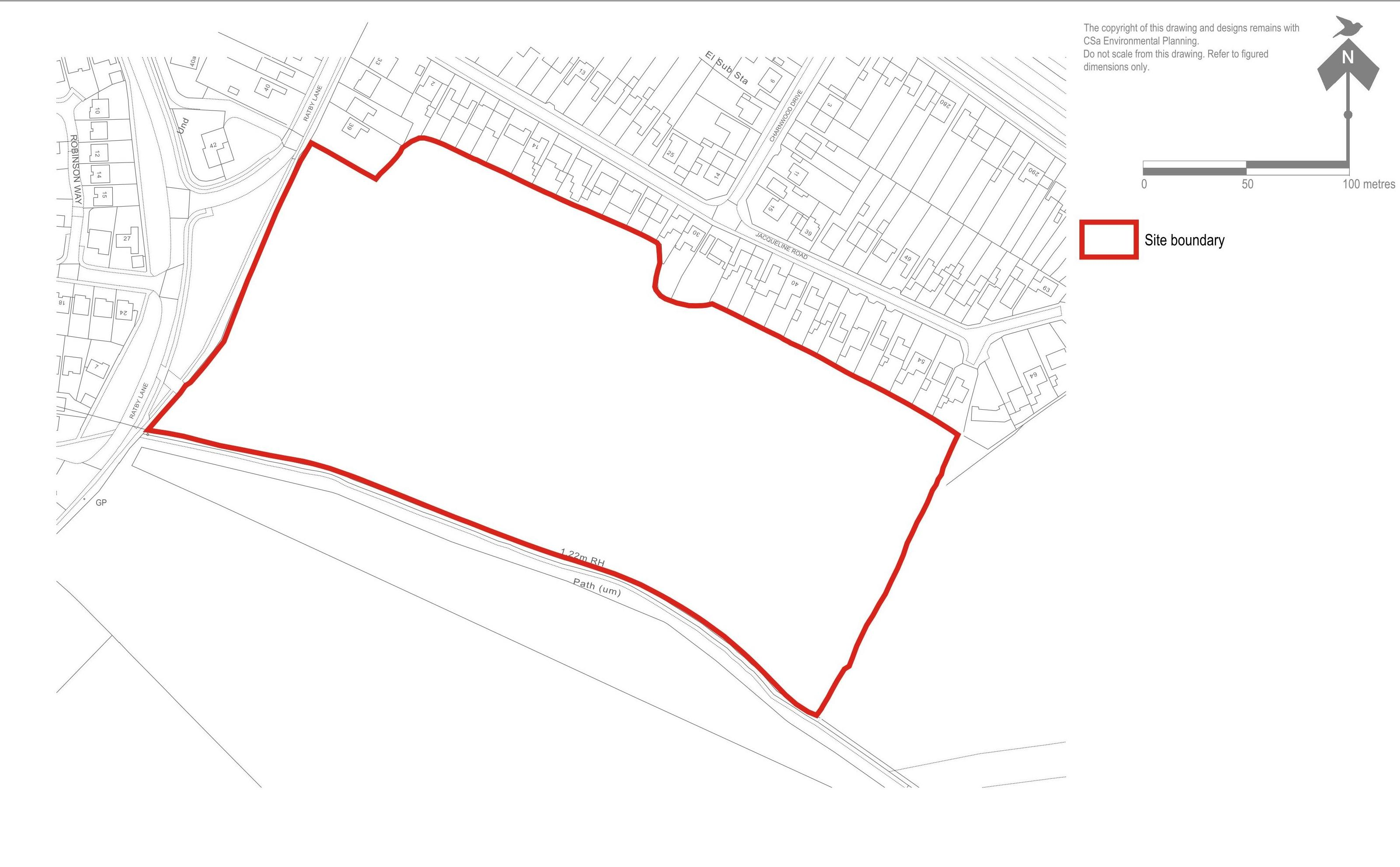 Markfield  Site Location Plan Small MAY15