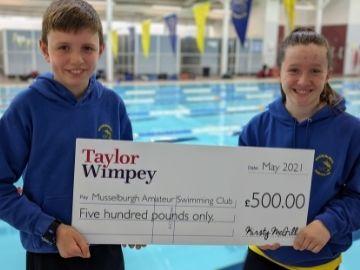 TWES Swimming donation