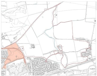 Proposed development area land to the north of Halbeath North Dunfermlinewebsize