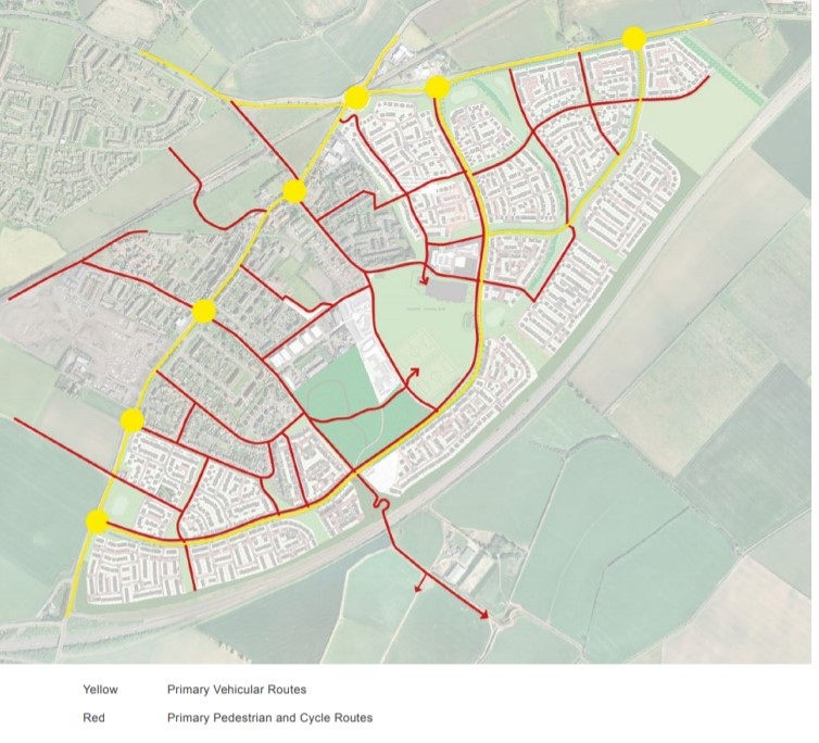 Wallyford_cycle_routes