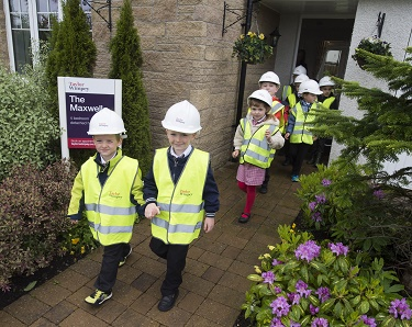 Pupils visiting our Maxwell Show Home
