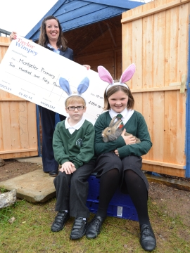 TWEX - Cherry Tree Gardens - Montpelier School Rabbit Donation - web