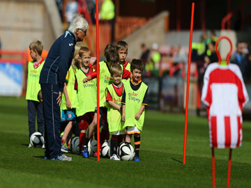 Youngsters at Exeter City FCs Tiny Tots  Website