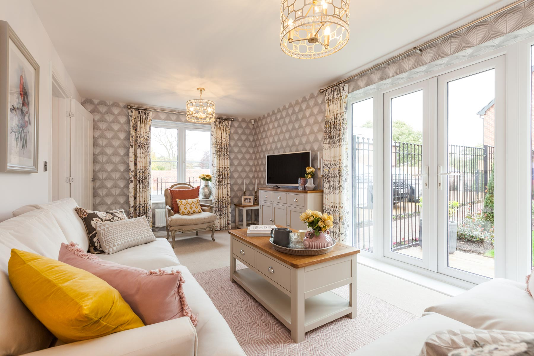 Taylor Wimpey Exeter - Buckingham Heights - Easdale example living room